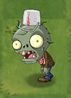 Shrunken Big Brainz Buckethead Zombie