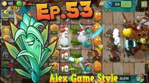 Plants vs. Zombies 2 (Chinese version) ZomBoss Zombot Plank Walker Pirate Seas Day 25 (Ep