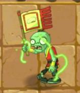Glowing Flag Monk Zombie