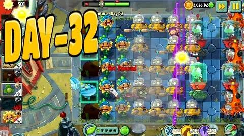 Plants vs Zombies 2-Far Future Day-32 -Caulipower Epic Quest Step-7 No Power Up Walkthrough