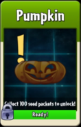 Pumpkin about to be unlocked