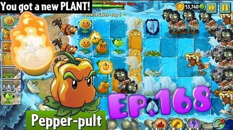 Plants vs. Zombies 2 Got a new Plant Pepper-pult - Frostbite Caves Day 6 (Ep