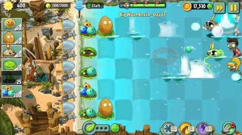 Plants vs Zombies 2 Walkthrough - Big Wave Beach Day 13