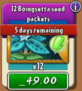 Boingsetta Seed Packets cost real money