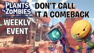 Don't Call it a Comeback - New Weekly Event in PvZ Battle for Neighborville