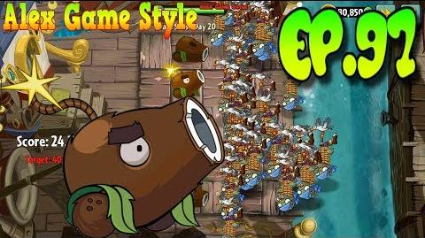 Plants vs. Zombies 2 Reach the target score - Pirate Seas Day 20 (Ep