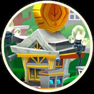 Saving & Lawn Bank Building Icon