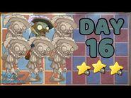 Plants vs Zombies 2 China - Renaissance Age Day & Night 16 -Statue Shuffling-《植物大战僵尸2》- 复兴时代 15天