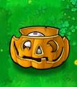 Imitater Puff-Shroom in Pumpkin