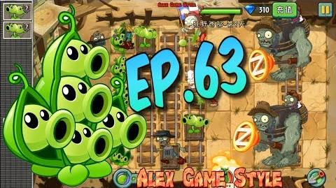 Plants vs. Zombies 2 (Chinese version) Unlocked new Plant Red Stinger Wild West Day 8 (Ep