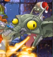 Zombot Dark Dragon Santa Hat