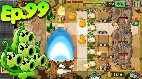 Plants vs. Zombies 2 (China) - Unlocked Fume-shroom - Kung-Fu World Day 13 (Ep