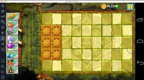 Plants vs Zombies 2 - Lost City Day 1 - Unlock Red Stinger