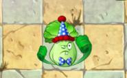 Bonk Choy con disfraz del aniversario