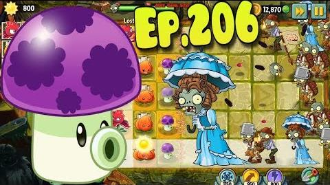Plants vs. Zombies 2 Puff-shroom in Lost City - Lost City Day 8 (Ep