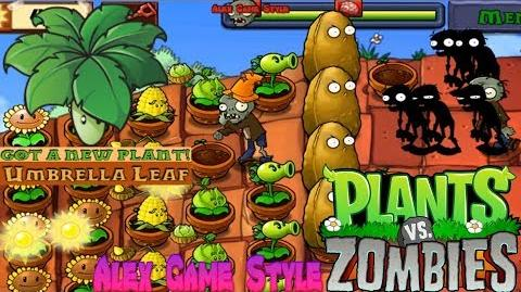 Plants vs. Zombies Adventure Got a Umbrella Leaf level 5-6 Roof (Android Gameplay HD) Ep