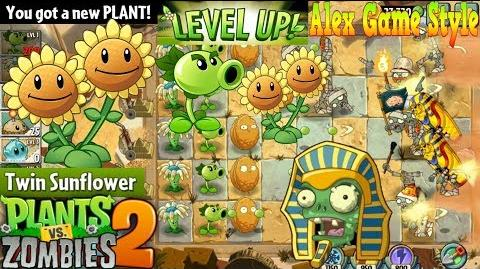 Plants vs. Zombies 2 Got a New Plant Twin Sunflower Ancient Egypt Day 24 (Ep