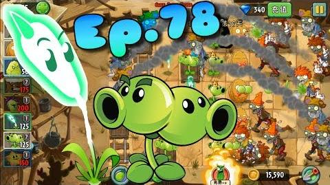 Plants vs. Zombies 2 (China) Lightning Reed, Split Pea, Peashooter Wild West Day 18 (Ep