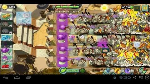 Pyramid of Doom Level 102 Fume-Shroom Super Power Tiles Dark Ages Plants PvZ2 Endless Zone