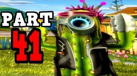 Plants vs Zombies Garden Warfare - Future Cactus Gameplay Walkthrough - Crazy! Disco Final Boss