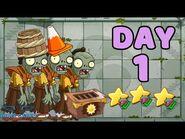 Plants vs Zombies 2 China - Heian Age Day 1 -Last Stand-《植物大战僵尸2》- 平安时代 1天