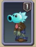 Snow Pea Zombie Almanac Icon