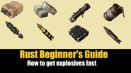 Rust Beginner's Guide - How To Get Explosives Fast in Rust 2019