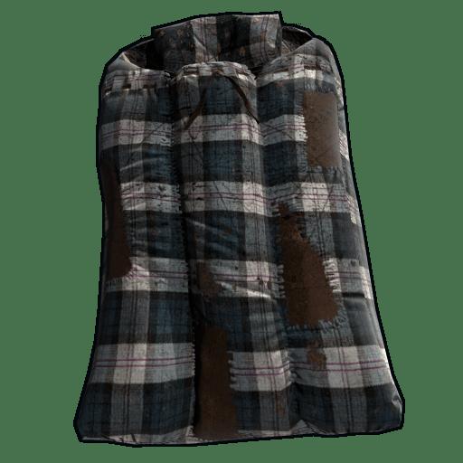 Blue Plaid Sleeping Bag
