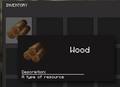 Wood in the Inventory