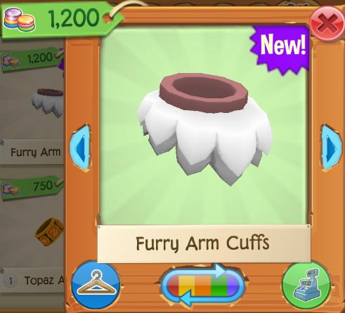 Rare Furry Arm Cuffs