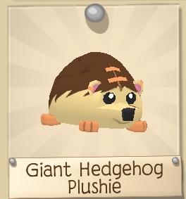 Giant Hedgehog Plushie