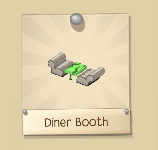 Discontinued Diner Booth