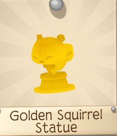 Golden Squirrel Statue