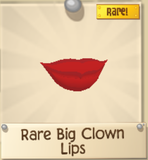 Rare Big Clown Lips