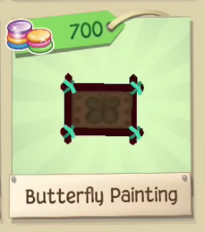Rare Butterfly Painting