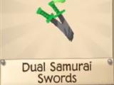 Dual Samurai Swords