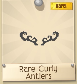 Rare Curly Antlers