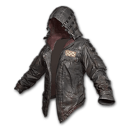 Leather Hoodie (Black) - Jacket - PUBG
