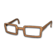 Horn-rimmed Glasses (Brown) - Glasses - PUBG