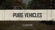 PUBG Quick Tips - Vehicles