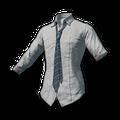 School Shirt with Blue Necktie