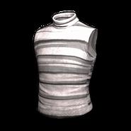 PUBG Ärmelloser Rollkragenpulli (Grau gestreift)