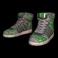 Green Pattern Hi-top Trainers