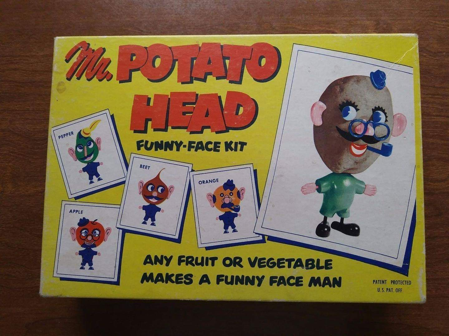 1952 Mr. Potato Head Funny-Face Kit | Play-R: The Gaming Adventures Wiki |  Fandom