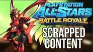 PlayStation All-Stars Battle Royale - Scrapped Content