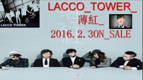 LACCO TOWER 薄紅 2016 2 3ON SALE