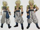 Grafika koncepcyjna Gogety w formie Super Saiyanina (Dragon Ball Super- Brolly)