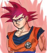 Super Saiyanin God fanart (2)