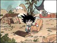 Goku układający drewno, rozdział 1