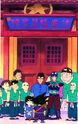 Najwyższa Gwiazda, mistrz Dà Quán wraz z nowymi uczniami i Gokū